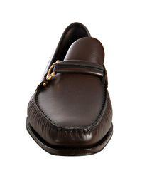 Ferragamo - Brown Auburn Calf Lang Gancio Loafers for Men - Lyst