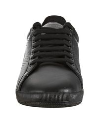 Fred Perry | Black Leather Parkside Perforated Stripe Sneakers for Men | Lyst