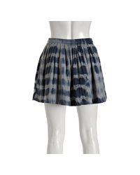 Gryphon | Navy Blue Cotton Striped Tie Dye Mini Skirt | Lyst