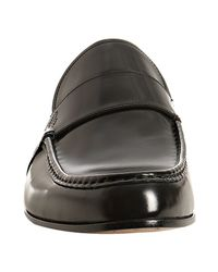 Gucci - Black Leather Wimbledon Loafers for Men - Lyst