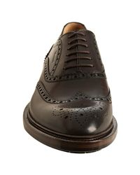 Gucci - Burnt Brown Leather Wingtip Oxfords for Men - Lyst