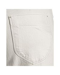 James Jeans - White Pearl Bridgette High Rise Cropped Jeans - Lyst