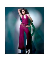 Jay Godfrey | Purple Wine Silk Crepe Halter Jumpsuit | Lyst