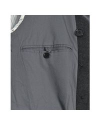 John Varvatos - Gray Thunder Grey Wool-cashmere Military Trench Coat for Men - Lyst