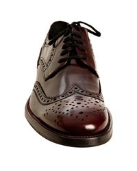Kenneth Cole | Brown Bordeaux Leather Cruise with Me Wingtip Oxfords for Men | Lyst