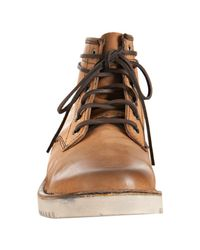 Kenneth Cole Reaction - Brown Tan Leather Off Track Boots for Men - Lyst