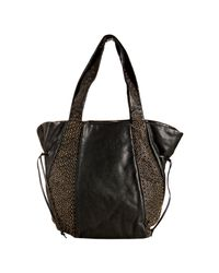 Kooba | Black Leather Montana Grommet Detail Shoulder Bag | Lyst