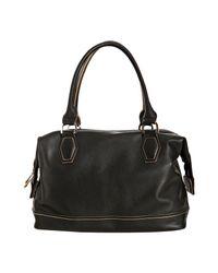 Longchamp - Black Leather Légende Small Satchel - Lyst