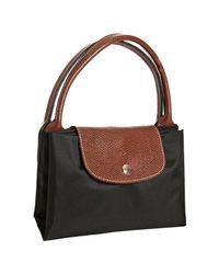 Longchamp - Black Nylon Le Pliage Medium Folding Tote - Lyst