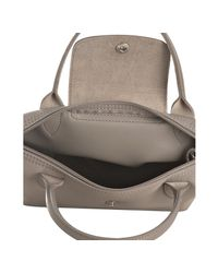 Longchamp - Brown Argilla Coated Nylon Planetes Mini Tote - Lyst