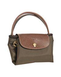 Longchamp - Brown Taupe Nylon Le Pliage Small Folding Tote - Lyst