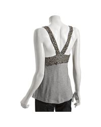 Love Sam | Gray Heather Grey Jersey Beaded Coin Tank | Lyst