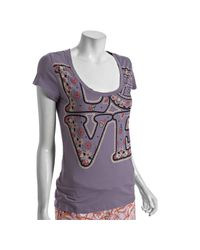 Lucky Brand | Purple Cotton Love Bandana Scoop Neck Pajama Top | Lyst