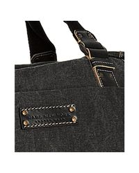 Marc New York - Black Leather and Denim Duffel Bag for Men - Lyst