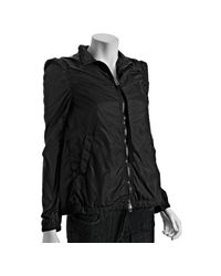 Moncler | Black Woven Puff Sleeve Sara Swing Jacket | Lyst