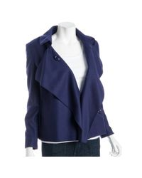 Moschino - Blue Royal Purple Wool Shawl Front Peacoat - Lyst