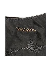 Prada | Black Nylon Double Handle Shoulder Bag | Lyst