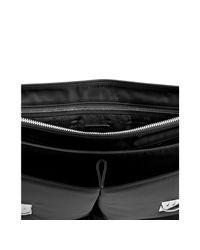 Prada - Black Nylon Dual Pocket Flap Briefcase for Men - Lyst