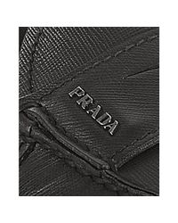 Prada - Black Saffiano Driving Loafers for Men - Lyst