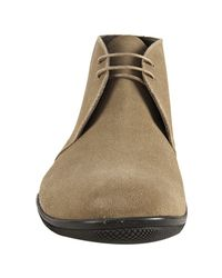 Prada - Natural Sport Desert Suede Chukka Boots for Men - Lyst