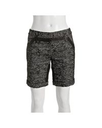 Proenza Schouler - Black Tweed Linen-wool Tailored Shorts - Lyst