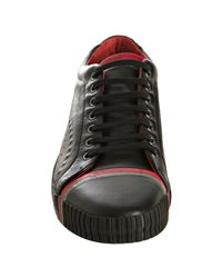 PUMA - Amq For Black Leather Scarred Street Low Sneakers for Men - Lyst