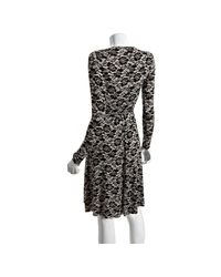 Rachel Pally | Black Lace Print Jersey Wrap Dress | Lyst
