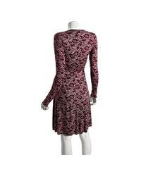 Rachel Pally - Purple Dragonfly Lace Print Jersey Wrap Dress - Lyst