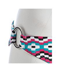 Shoshanna - Pink Mosaic Print Ring Bikini Bottom - Lyst