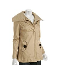 SOIA & KYO | Natural Sand Cotton Talia Wide Lapel Jacket | Lyst