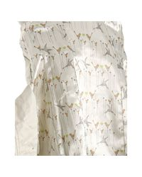SOIA & KYO - Off White Cotton Chaima Pleated Trench - Lyst