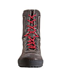 Tod's - Brown Leather Trekking Winter Gommino Boots for Men - Lyst