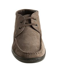 Tod's - Muted Brown Suede Barca Moc-toe Chukkahs for Men - Lyst