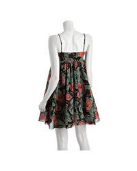 Twenty8Twelve - Black Abstract Floral Voile Dorris Babydoll Dress - Lyst