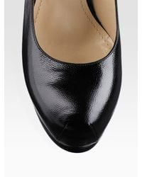Saint Laurent - Black Tribtoo Platform Pumps - Lyst