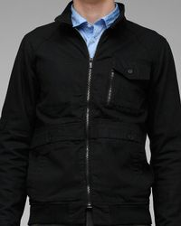 Comune | Black Diego Coated Cotton Jacket for Men | Lyst