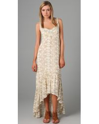 Free People | White Love Birds Long Dress | Lyst