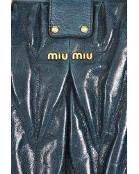 Miu Miu - Blue Matelassé Leather Bag - Lyst
