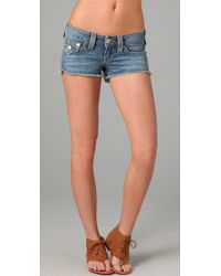 True Religion | Blue Joey Cutoff Shorts | Lyst