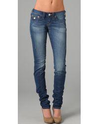 True Religion | Blue Julie Torque Skinny Jeans | Lyst