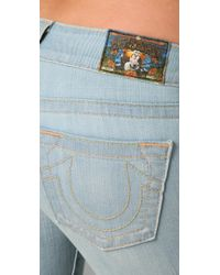 True Religion | Blue Morgan Wide Leg Flare Jeans | Lyst