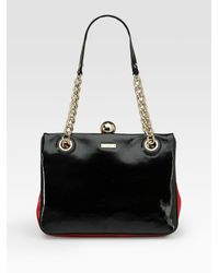 kate spade new york | Black Darcy Frame Patent Leather Shoulder Bag | Lyst