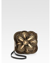 Kate Spade | Natural Bitsy Flower Straw Mini Bag | Lyst
