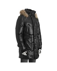Mackage - Black Poly Chase Fur Trim Hooded Puffer Down Coat for Men - Lyst