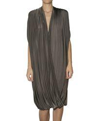 La Petite Salope   Green Draped Jersey Dress   Lyst