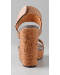 Chie Mihara - Brown Didac 2 Band Wedge Sandals - Lyst