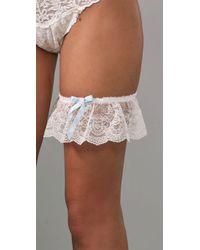 Hanky Panky - White Julia Silk & Lace Leg Garter - Lyst
