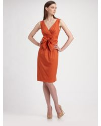 Max Mara | Orange Navale Bow Dress | Lyst