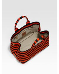 Prada | Orange Striped Tote | Lyst