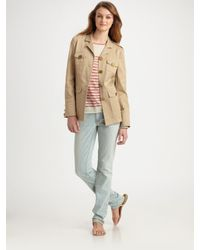 Tory Burch | Natural Owen Stretch-twill Jacket | Lyst
